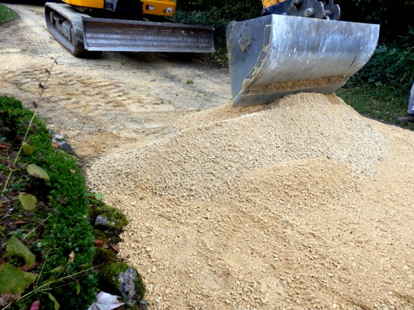 landscaping with crushed rock