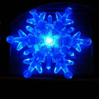 "4"" Color Changing Snowflake Window Decoration at Garden"