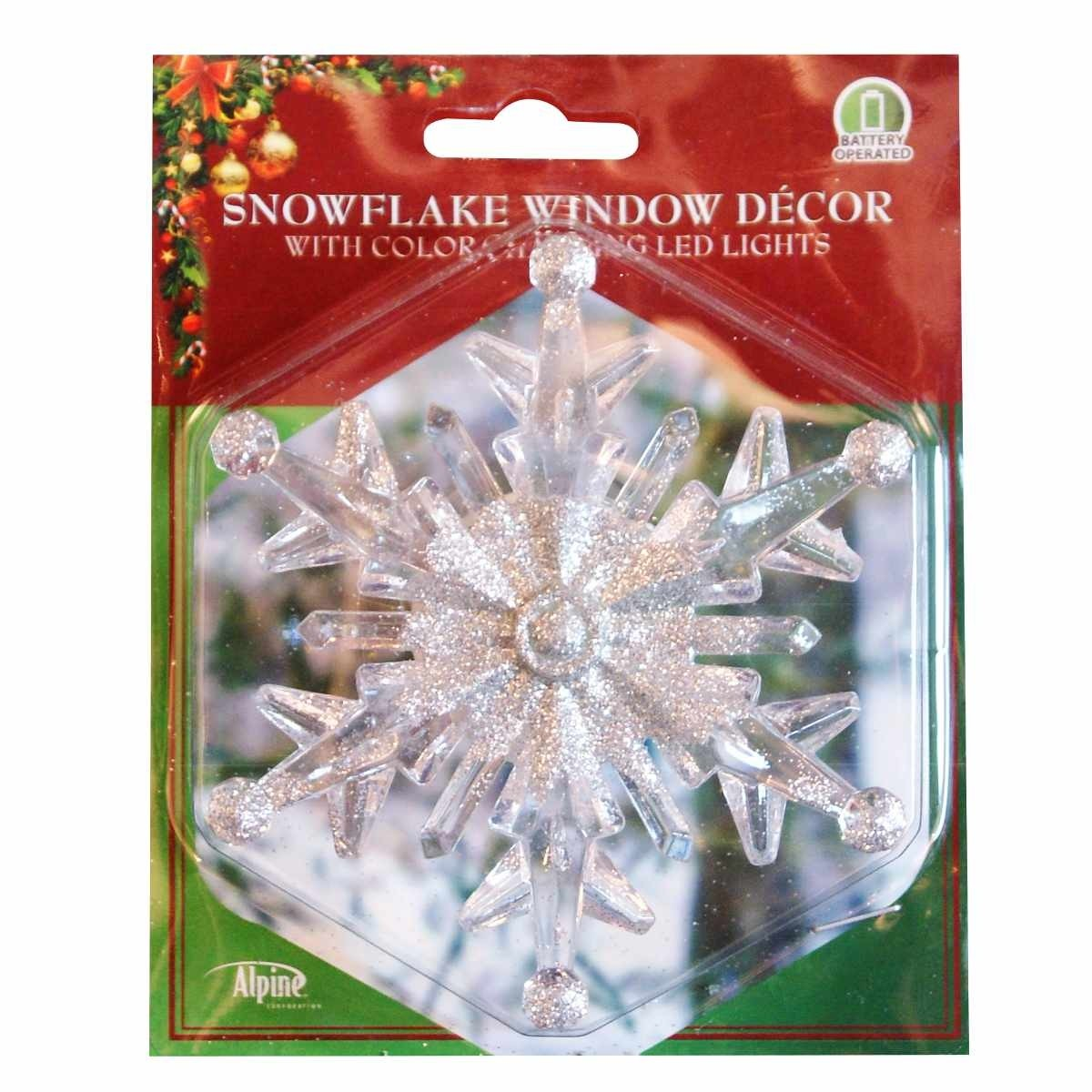 """4"""" Color Changing Snowflake Window Decoration at Garden"""