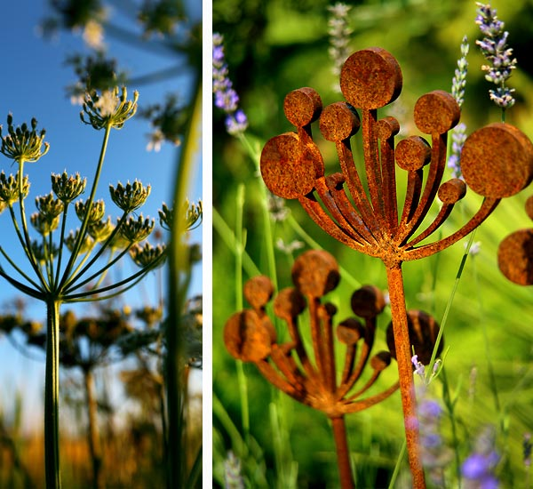 Cow Parsley Garden Sculptures  Metal Garden Sculpture
