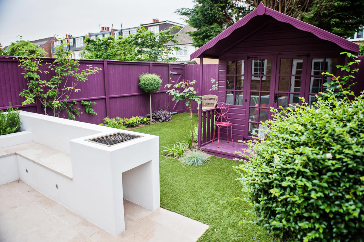 Funky backyard garden ideas - Small Funky Garden Design In Wimbledon Designed And Constructed By