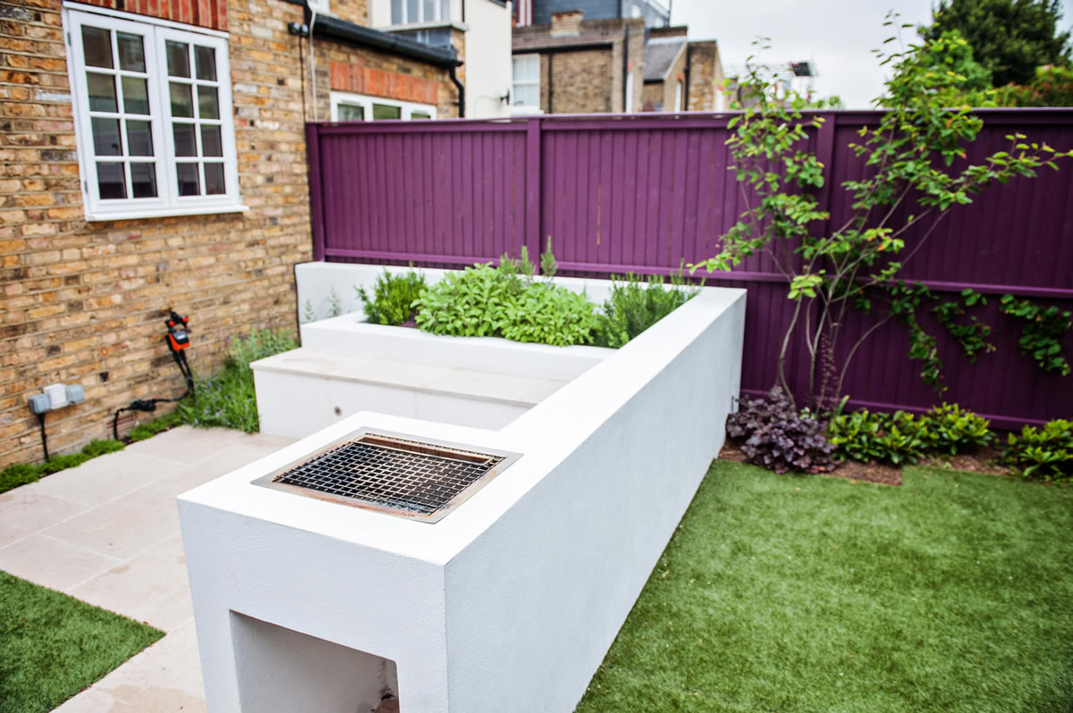 Wimbledon Small Funky Family Garden Designed And Constructed By