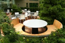 Commercial Outdoor Relaxation Seating And Dining Area