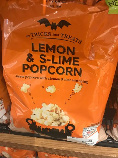 M&S S-Lime popcorn