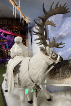 Santa's grotto is just past the Snow Queen