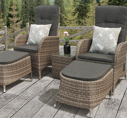 outdoor rattan armchair uk renting chairs and tables plastic wicker upvc garden furniture resin patio sets