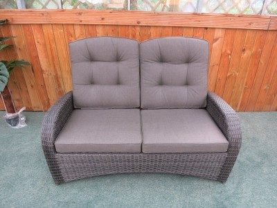 wicker sofa uk fix sagging cushions rattan chairs weatherproof armchairs delivery reclining single