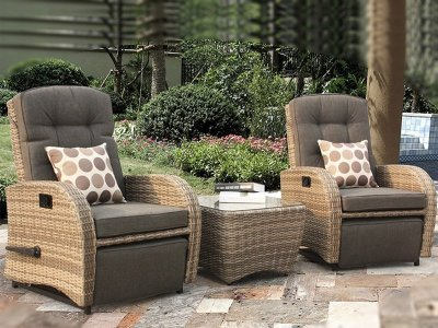outdoor rattan armchair uk resin lawn chairs cushions weatherproof armchairs delivery rocking reclining bistro set in cappuccino brown