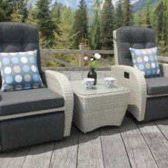 All Weather Garden Chairs Kitchen Swivel Weatherproof Furniture Centre Shopping Bellevue Rocking Reclining Rattan Bistro Set Silver Grey