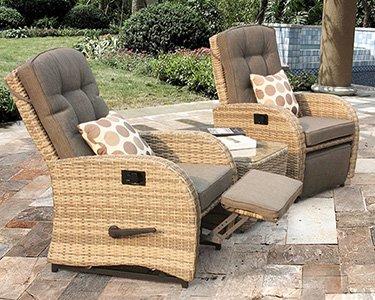 outdoor rattan armchair uk linen dining chair cushions garden furniture chairs sets aluminium framed reclining