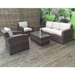 Wicker Sofa Sets Uk Mexico Bahne Della 3 Seater Rattan Set In Synthetic Signature Weave