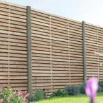 Forest Garden Contemporary Double Slatted Fence Panel