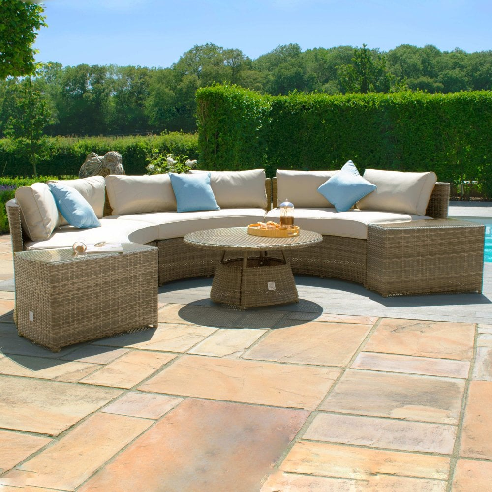 When it comes to decorating behind your sofa, the options are endless. Maze Rattan Tuscany Half Moon Sofa Set