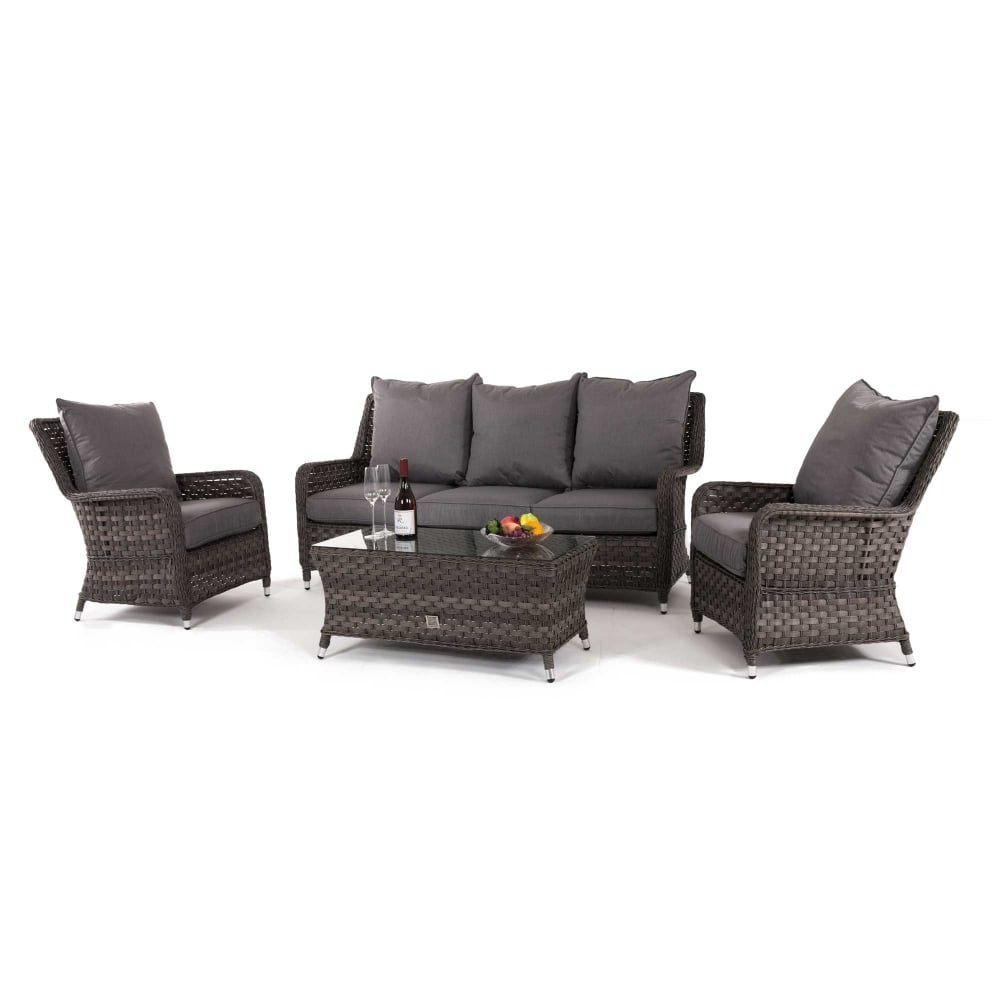 maze rattan half moon sofa set grey replica antonio citterio charles large victoria high back 3 seat