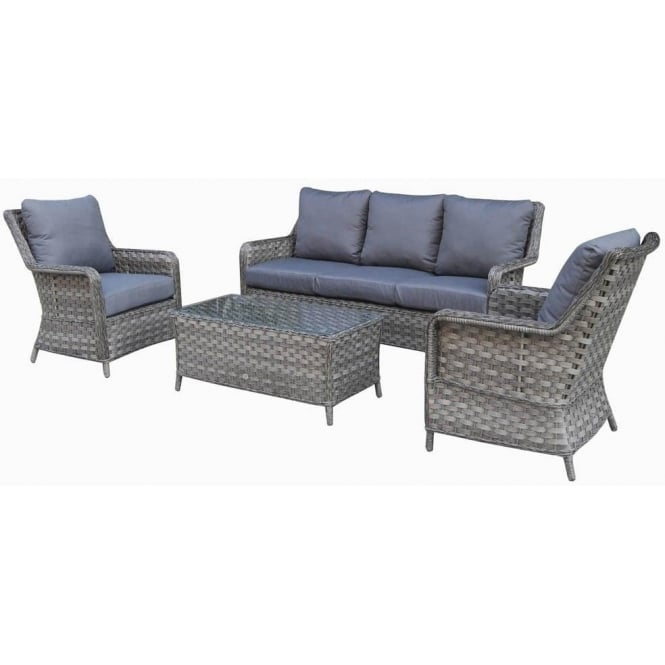 wicker sofa sets uk scandinavian style sofas mia 3 seater rattan set with coffee table in synthetic signature weave