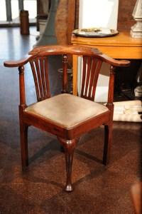 Georgian Fruitwood Corner Chair with Drop Seat, 18th ...