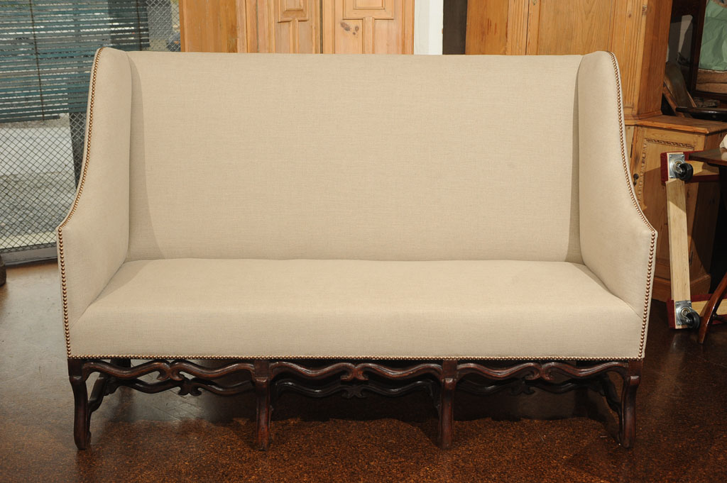 sofa tables pinterest repair cushion puchong 17th century high back with carved walnut base ...