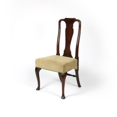 Queen Anne Dining Chair Metal Office Base 18th Century Walnut With Legs
