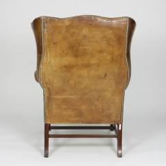Tufted Leather Wingback Chair Adirondack Rocking Chairs Resin Brown English 19th C Ph