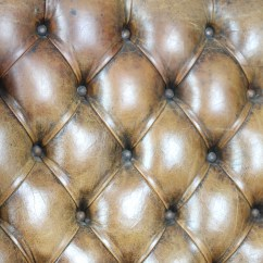 Tufted Leather Wingback Chair Offshore Fishing Brown English 19th C. Chair. Ph (415) 355-1690