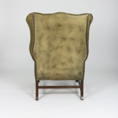 Tufted Leather Wingback Chair 8 Hour Office Green Ph 415 355 1690
