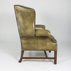 Tufted Leather Wingback Chair Swing Home Bargains Green Ph 415 355 1690