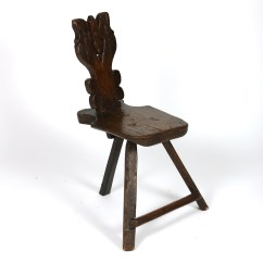 3 Legged Chair How Much Does It Cost To Reupholster A Wingback Primitive 415 355 1690 Garden Court Antiques San Francisco Rustic Carved Oak Tyrolean Three