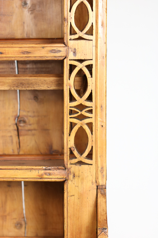 Vintage Irish Dresser  Display Rack w Celtic Knot Design