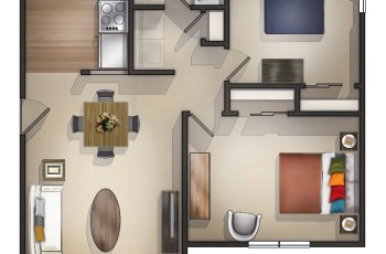 Beautiful Two Bedroom Apartments Contemporary - Design Ideas intended for Best Layout For Garden Manor Apartments Design Ideas