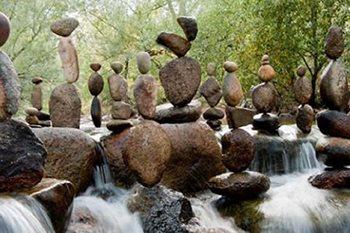The Zen Of Rock Balancing Garden Design