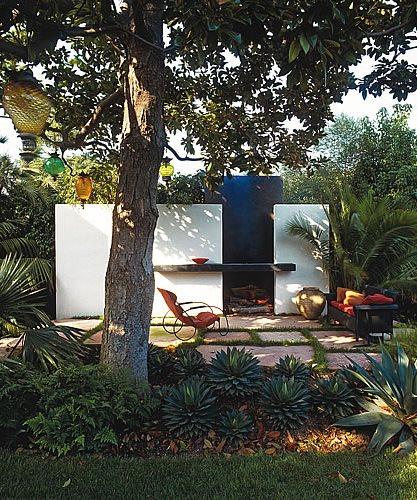 Framed Fireplace Jay Griffith Landscape Venice, CA
