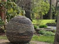 Stacked Stone Garden Sphere | Garden Design