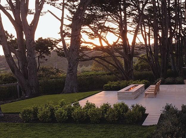 Linear Fireplace Fixture Andrea Cochran Landscape Architecture San Francisco, CA
