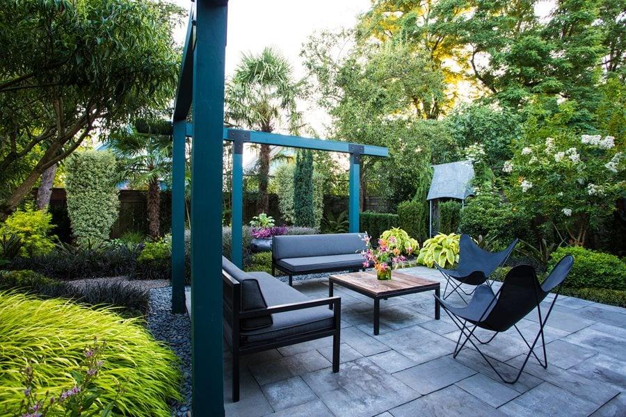 Small Garden Gets Tropical Makeover  Garden Design