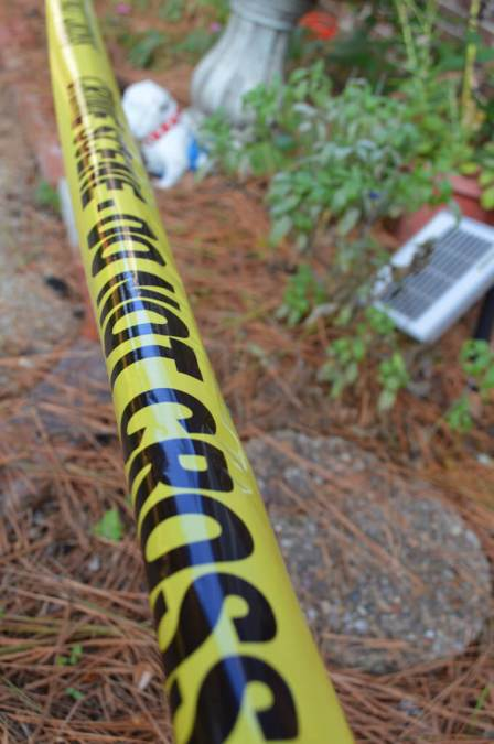 Crime scene tape can help rope off your flower beds