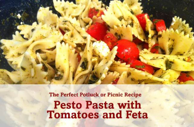 Pesto Pasta with Tomatoes and Feta Recipe