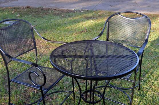 Table and chairs after restoring
