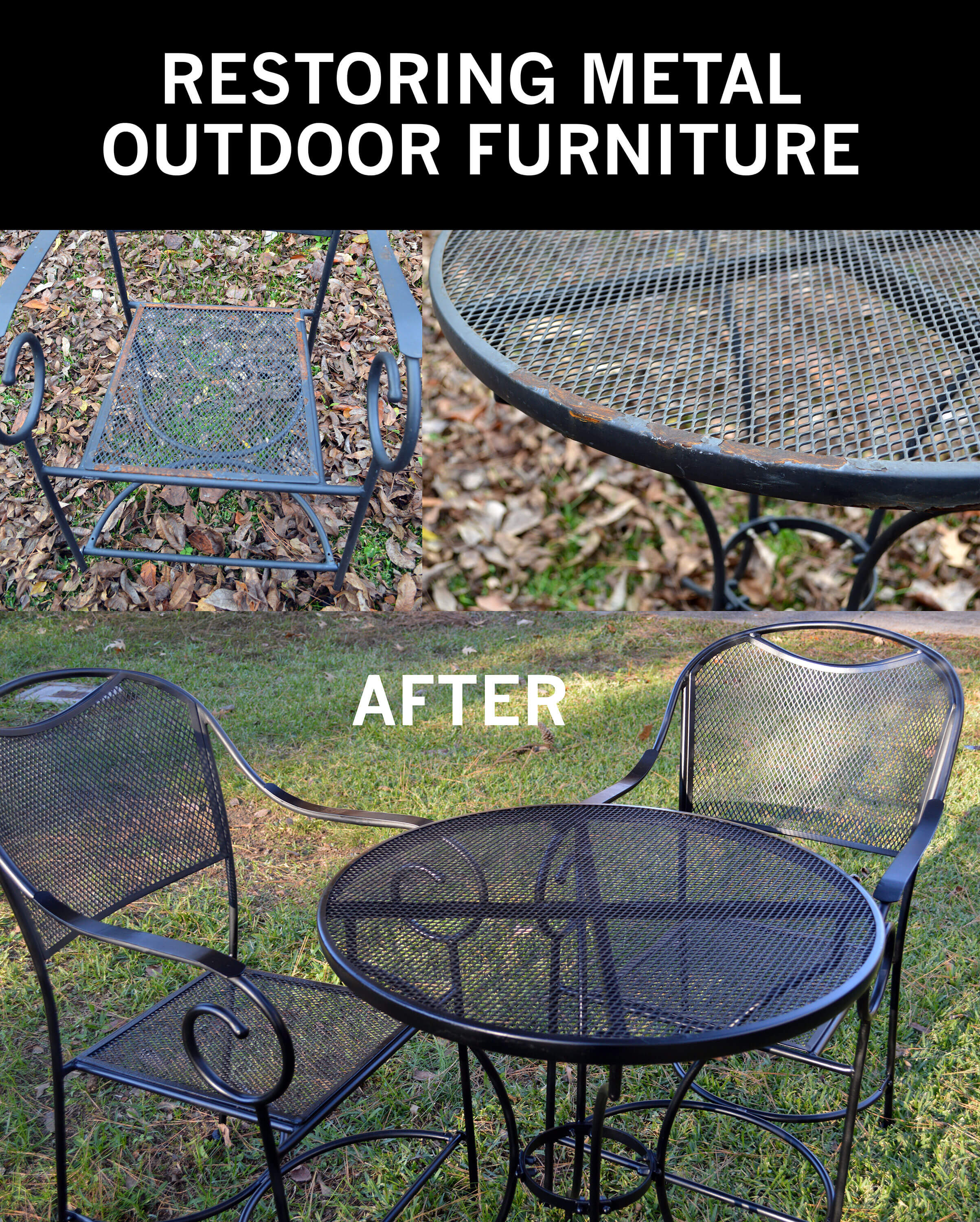 Wondrous Restore Metal Outdoor Furniture To Like New Short Links Chair Design For Home Short Linksinfo