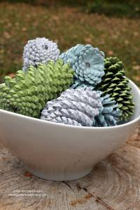 Painted Pine Cone Table Decoration