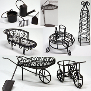 MINI GARDEN FURNITURE COLLECTION RUST