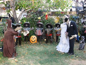 Outdoor Halloween Decorations Outdoor Halloween Decor Ideas For