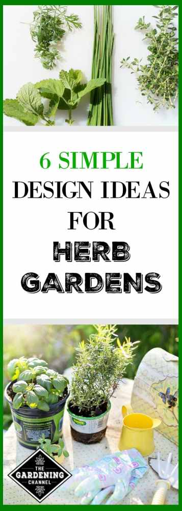 herb garden design ideas. fresh cut herb harvest and planting herbs in garden with tools  text overlay 6 Six Simple Design Ideas for Herb Gardens Gardening Channel