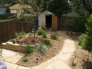 Water-saving gardens