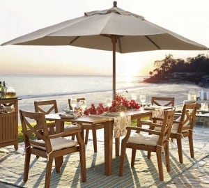 Teak Outdoor Dining Tables. Hampstead By Pottery Barn
