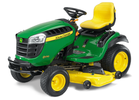 John Deere D170 riding lawnmower