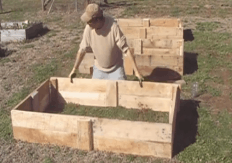 wood pallet raised bed garden plans