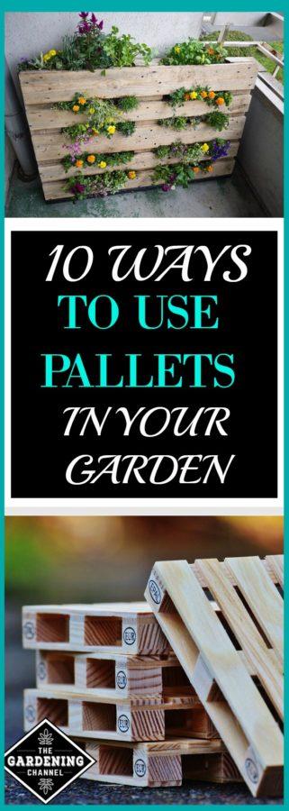 Using Pallets in Garden