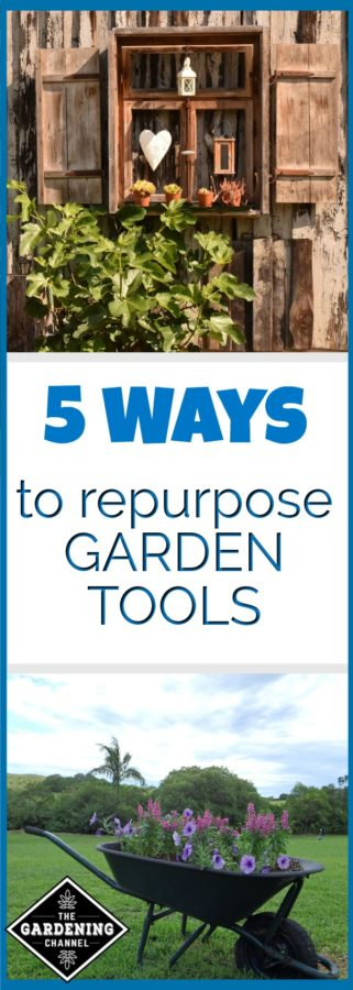 Repurpose garden tools