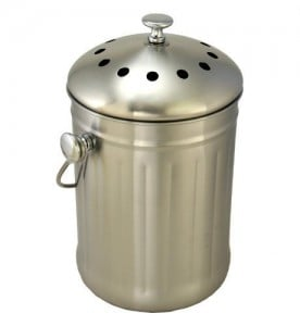 best gardening gifts stainless compost pail