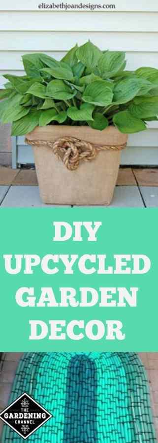 upcycled garden decor